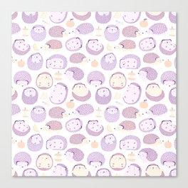 Happy Hedgies - Kawaii Hedgehog Doodle Canvas Print