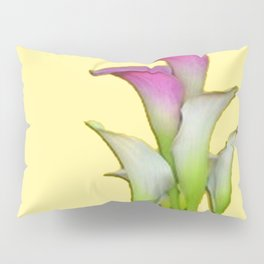 PURPLE & WHITE CALLA LILIES FLORAL YELLOW ART Pillow Sham