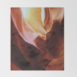 Antelope Canyon Throw Blanket