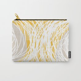 Yellow Doodle Floral by Friztin Carry-All Pouch