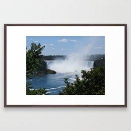 Horseshoe Falls at a Distance Framed Art Print