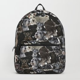 Schnauzer Collage Realistic Backpack