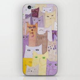 Cats conferance iPhone Skin