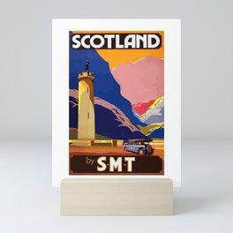 Vintage Travel Poster Scotland Painting Mini Art Print