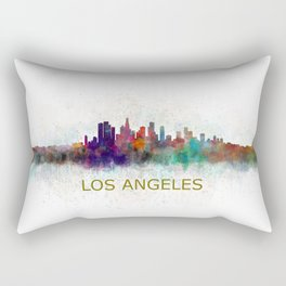 Los Angeles City Skyline HQ v4 Rectangular Pillow