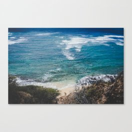 Surfer meets Sea - Diamond Head / Oahu / Hawaii Canvas Print