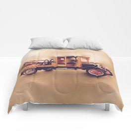 Vintage Model T Wrecker Comforters