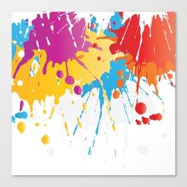 Colourful Paint Splash Canvas Print
