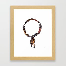 Ruby Necklace Framed Art Print