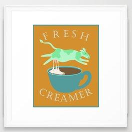 Fresh Creamer Framed Art Print
