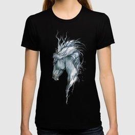 Aqua horse T-shirt