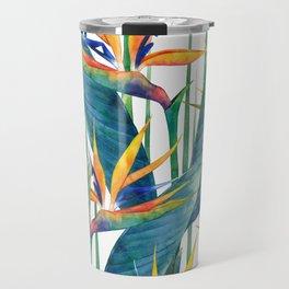 Watercolor strelitzia Travel Mug