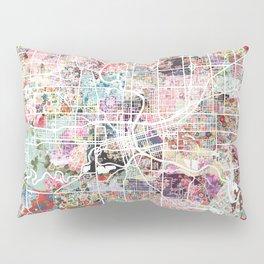 Des Moines map Pillow Sham