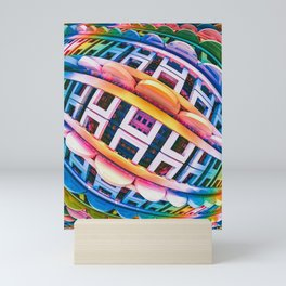 Brace Face Space. 3D Abstract Design Mini Art Print