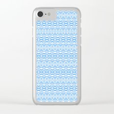 Dividers 07 in Light Blue over White Clear iPhone Case