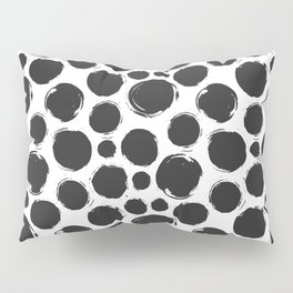 Dry brush black ink dots Pillow Sham
