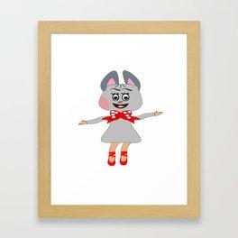 Lucy jucy Framed Art Print