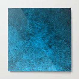 Abstract blue pattern Metal Print