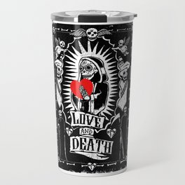 Valentine's Day of the Dead Travel Mug