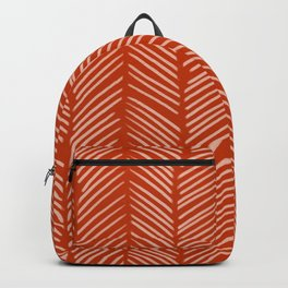 Rust Herringbone Backpack