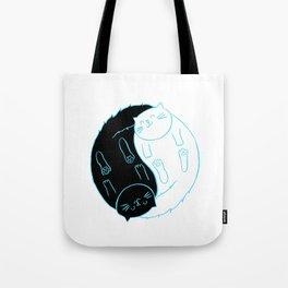 Ying Yang Kitties Tote Bag