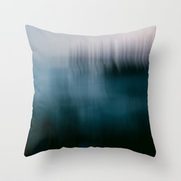 Forest Wilderness by the Sea Abstract Throw Pillow