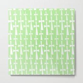 The Cross - Light Green Metal Print
