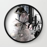oil Wall Clocks featuring OIL by CITYABYSS
