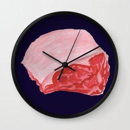 Beef Cuts (Dark Blue) Wall Clock