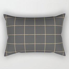 Gold grid pattern Rectangular Pillow