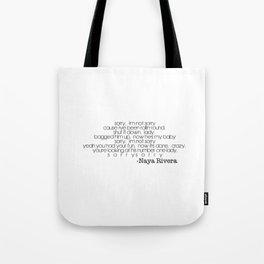 Naya Rivera Sorry Tote Bag