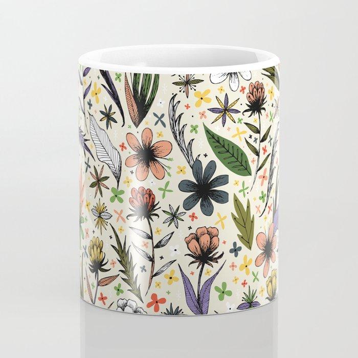bright sketchy flowers Coffee Mug