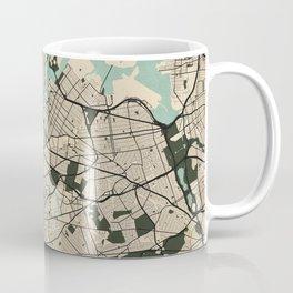 New York City Map of the United States - Vintage Coffee Mug