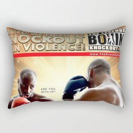 United We Fight To Knockout Gun Violence Rectangular Pillow