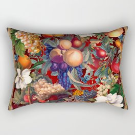 Vintage Fruit Pattern VII Rectangular Pillow