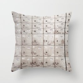 Chests with numbers Throw Pillow