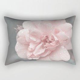 Romantic Rose In Teal Light Rectangular Pillow