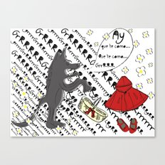 Little Red Riding Hood by Piarei Canvas Print