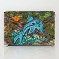dolphin iPad Cases featuring Dolphin by gretzky
