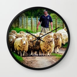 Flock On The Move. Wall Clock