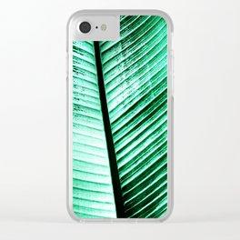Maurelli Hard Green Banana Tree Leaf Clear iPhone Case