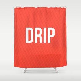 Drip Red Design Shower Curtain
