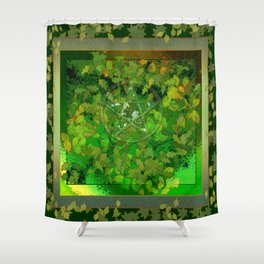 Leaf Ghosted Pentacle Shower Curtain