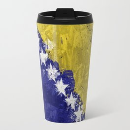 Bosnian Flag Travel Mug