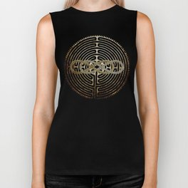 Double Infinity Silver Gold antique Biker Tank