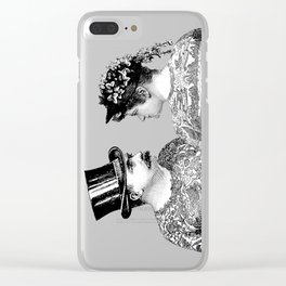 Tattooed Victorian Lovers | Tattooed Couple | Vintage Tattoos | Victorian Tattoos | Victorian Gothic Clear iPhone Case
