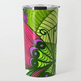 Hand Drawn Butterfly Pattern 04 Travel Mug