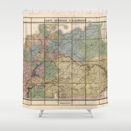 Map of Germany (1866) Shower Curtain