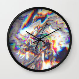 Abstract Marble Glitch Wall Clock