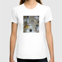 seashell T-shirts featuring seashell,sea by ira gora